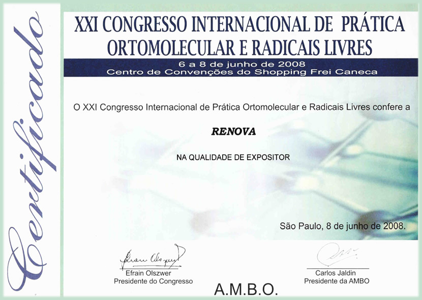 Certificado A.M.B.O.